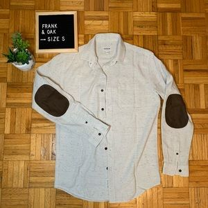 Frank and Oak Heathered Oatmeal Button Down